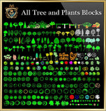 Tree and Plants CAD Blocks Collection