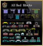Bed CAD Blocks Collection - CAD Design | Download CAD Drawings | AutoCAD Blocks | AutoCAD Symbols | CAD Drawings | Architecture Details│Landscape Details | See more about AutoCAD, Cad Drawing and Architecture Details