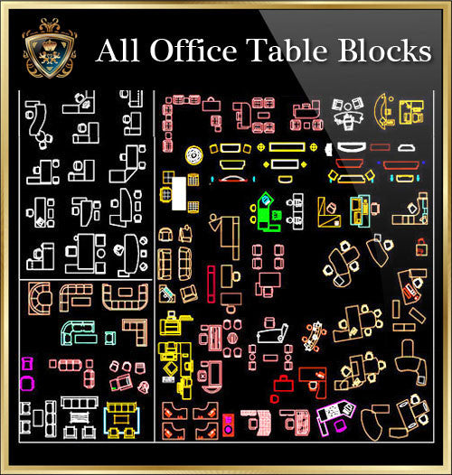 OfficeTable CAD Blocks Collection