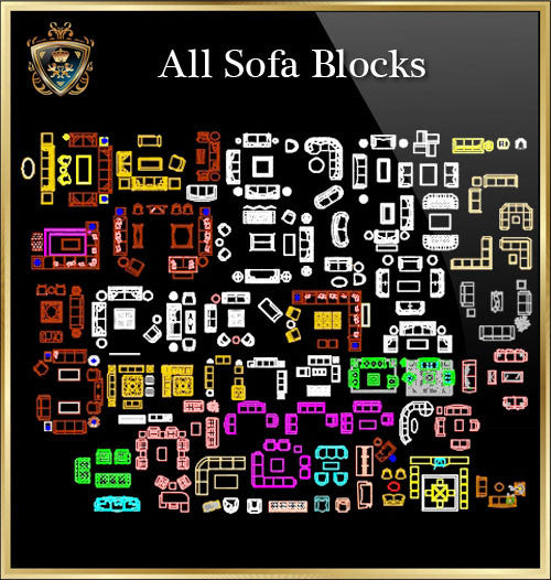 Sofa CAD Blocks Collection
