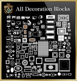 Decoration CAD Blocks Collection - CAD Design | Download CAD Drawings | AutoCAD Blocks | AutoCAD Symbols | CAD Drawings | Architecture Details│Landscape Details | See more about AutoCAD, Cad Drawing and Architecture Details