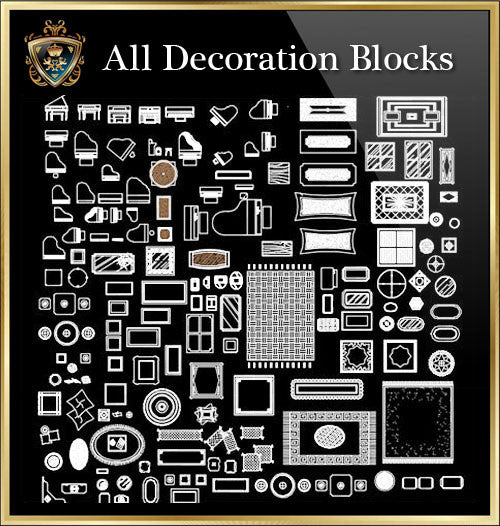 Decoration CAD Blocks Collection