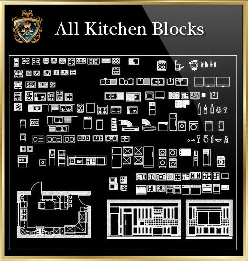 Kitchen CAD Blocks Collection - CAD Design | Download CAD Drawings | AutoCAD Blocks | AutoCAD Symbols | CAD Drawings | Architecture Details│Landscape Details | See more about AutoCAD, Cad Drawing and Architecture Details