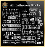 Bathroom CAD Blocks Collection - CAD Design | Download CAD Drawings | AutoCAD Blocks | AutoCAD Symbols | CAD Drawings | Architecture Details│Landscape Details | See more about AutoCAD, Cad Drawing and Architecture Details