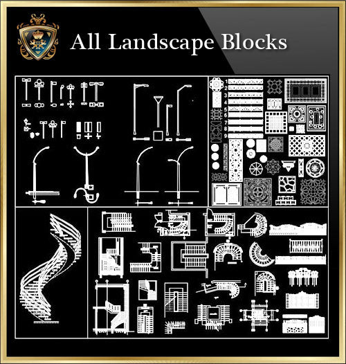Landscape Blocks CAD Blocks Collection - CAD Design | Download CAD Drawings | AutoCAD Blocks | AutoCAD Symbols | CAD Drawings | Architecture Details│Landscape Details | See more about AutoCAD, Cad Drawing and Architecture Details