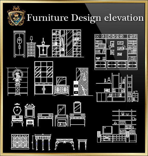 Furniture Design elevation-CAD Blocks Collection