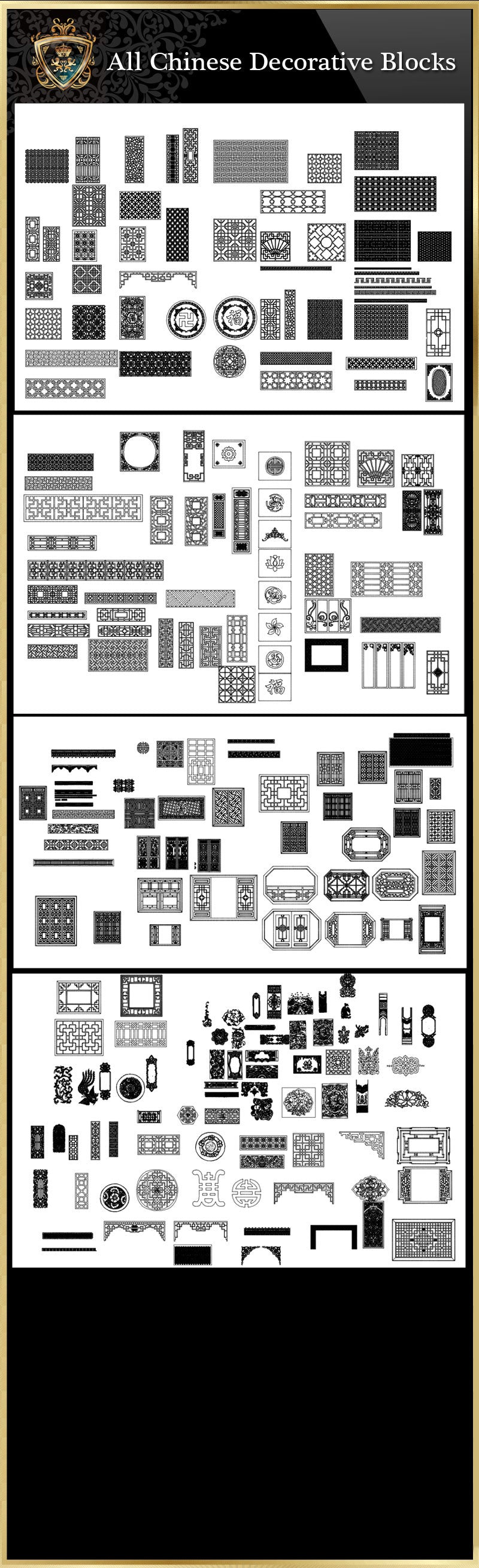 All Chinese Carved CAD Elements V.2