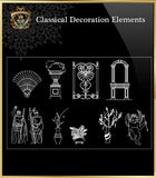 Free Classical Decoration Blocks V.2