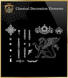 Free Classical Decoration Blocks V.3