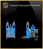 Free Classical Decoration Blocks V.18 - CAD Design | Download CAD Drawings | AutoCAD Blocks | AutoCAD Symbols | CAD Drawings | Architecture Details│Landscape Details | See more about AutoCAD, Cad Drawing and Architecture Details