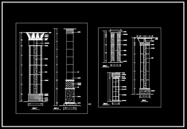 Column Design Drawing