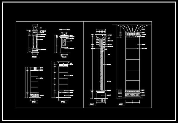 column design drawing cad design free cad blocks drawings details