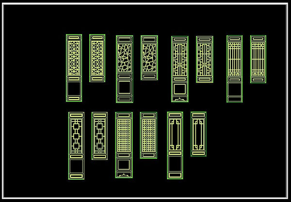 Chinese Classic grilles design