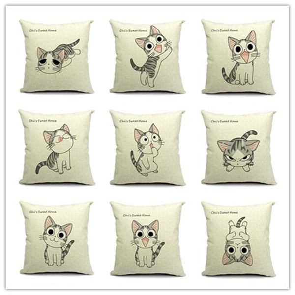 Top Sale Western Fashion Cute Cartoon Animal Pillow Bed Sofa Cushion Home Decorative Throw Pillow Fundas Para Almofadas Cojines
