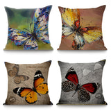 Home Decor Cushion Pillow Seat Butterfly Printed Almofadas Throw Pillow Fashion Decorative Pillows For Sofas Fundas Cojines