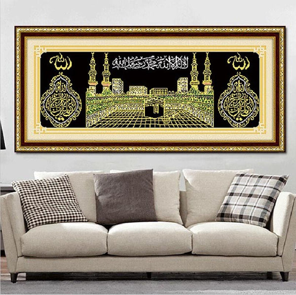 5d Diy Diamond Painting corss Stitch Religion Needlework Muslim  architecture round diamond embroidery religion Diamond Mosaic