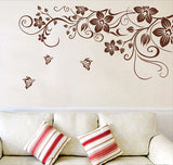 [Fundecor] sticker on the fridge black butterfly vine flower wall stickers kitchen decoration decals on the furniture