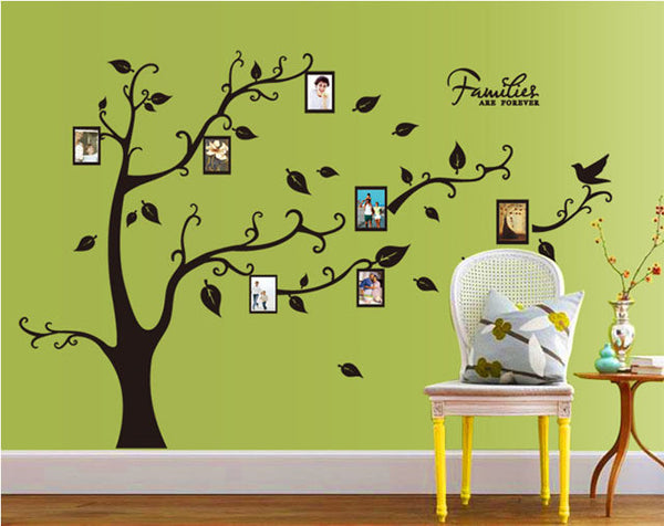 [Fundecor] 4colors frame photo tree wall stickers home decor living room murals diy wall decals decoration Stickers on the wall