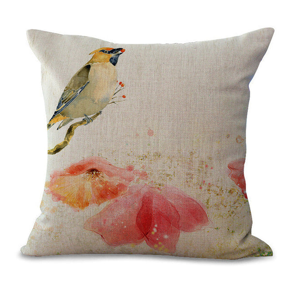 Chinese Style Bird Pillow Cases