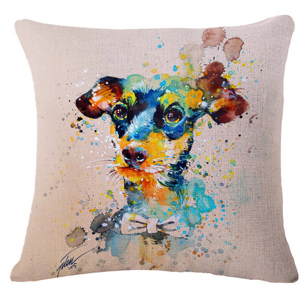 "Fashion cartoon, ""oil painting * bull dog"" pattern creative pillow, bed pillow, multifunctional office cushion pillow"