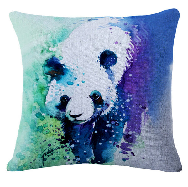 "Fashion cartoon, ""oil painting giant panda"" pattern creative pillow, bed pillow, multifunctional office cushion pillow"
