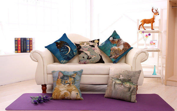 Animal Printing Cotton Embrace Pillow Case Bay Window By Pillow Case Office Living Room Cushion Dorp Shipping