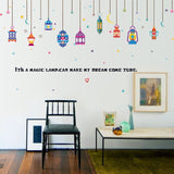 [Fundecor] Arabic lanterns wall stickers home decor living room couple bedroom decoration art decals diy vinyl murals children