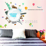 [Fundecor] holiday time creative landscaping bedroom wall decor wall stickers fashion European American architectural