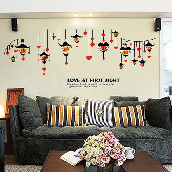 [Fundecor] Love lights wall stickers home decor living room couple bedroom decoration art decals diy vinyl murals children kids