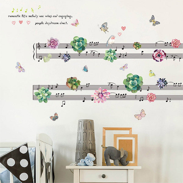 [Fundecor] More meat plant scores wall stickers home decor living rooms bedroom music room decorations art decals murals