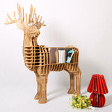 Wood craft deer desk deer coffee table wooden home furniture FSC-certified Europe style wooden
