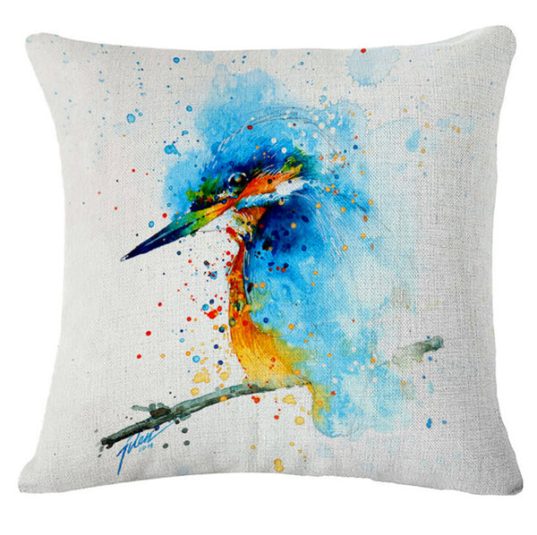 "Fashion cartoon, ""oil painting * bird"" pattern creative pillow, bed pillow, multifunctional office cushion pillow"