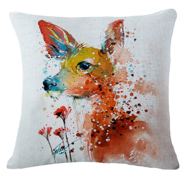 "Fashion cartoon, ""oil painting elk"" creative pillow, bed pillow, multifunctional office cushion pillow"