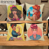 Cushion Cover Creative Cartoon Fashion Girl Pillow Case For Sofa/Car Cushion Home Decorate Pillows Cover Pillowcase 1 PCS/Lot - CAD Design | Download CAD Drawings | AutoCAD Blocks | AutoCAD Symbols | CAD Drawings | Architecture Details│Landscape Details | See more about AutoCAD, Cad Drawing and Architecture Details