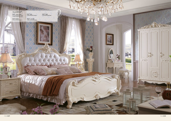 Free Shipping To Haiti ! Bedroom Furniture Set , King Size Soft Bed, Bed End Stool,night Stand, Mirror,dresser,leather Sofa