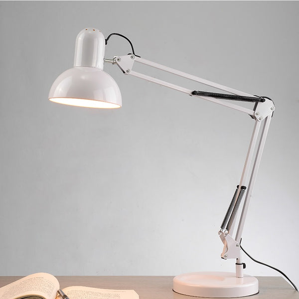 Retro Architect Lamp, Swing Arm Lamp, Steel Clamp Desk Lamp,