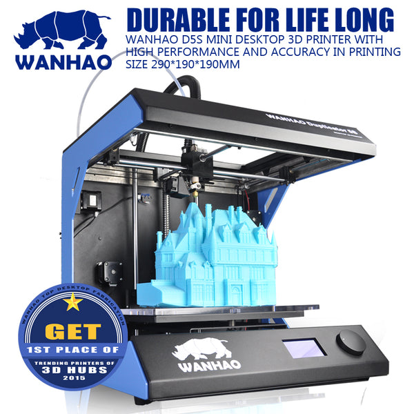 High quality Industrial Grade WANHAO D5S Mini Digital Metal 3D Printer for School Teaching and Architect  3D printing machine