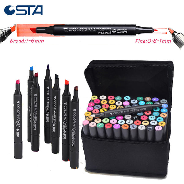 218 Colors STA alcohol Color Dual Architect Markers With Blender For Drawing liners as Copic Ciao Sketch Marker Comic kids Pens