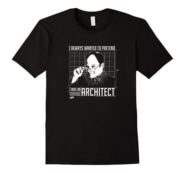 Seinfeld Pretend Architect 2017 hot Summer funny cool Fashion Printed Hipster Tops men's T Shirt