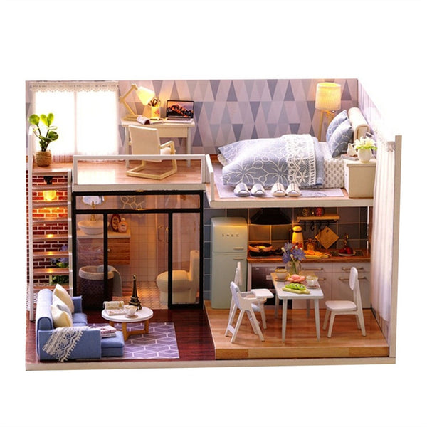 Dollhouse Miniature DIY House Kit Educational Handmade Assembly Model Creative Room With Furniture (Pale Blue Story) - CAD Design | Download CAD Drawings | AutoCAD Blocks | AutoCAD Symbols | CAD Drawings | Architecture Details│Landscape Details | See more about AutoCAD, Cad Drawing and Architecture Details