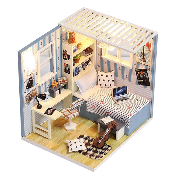 Dollhouse Miniature DIY House Kit Educational Handmade Assembly Model Creative Room With Furniture (Blue) - CAD Design | Download CAD Drawings | AutoCAD Blocks | AutoCAD Symbols | CAD Drawings | Architecture Details│Landscape Details | See more about AutoCAD, Cad Drawing and Architecture Details