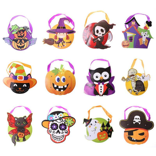 Halloween Cute Modelling Children Toys Paper Bag Tote Handbag Candy Gifts Pouch Handbag for Halloween Holiday Festive Supplies