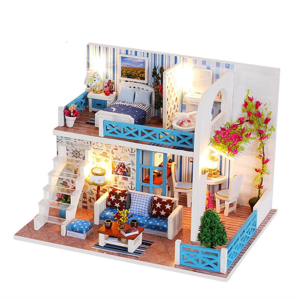 Miniature DIY Dollhouse Kit with Furniture Accessories Creative Romantic Gift for Children Lovers and Friends (K-019 Bank of Helen)