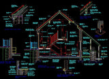 House Section - CAD Design | Download CAD Drawings | AutoCAD Blocks | AutoCAD Symbols | CAD Drawings | Architecture Details│Landscape Details | See more about AutoCAD, Cad Drawing and Architecture Details