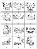 Sofa Cad Blocks Set - CAD Design | Download CAD Drawings | AutoCAD Blocks | AutoCAD Symbols | CAD Drawings | Architecture Details│Landscape Details | See more about AutoCAD, Cad Drawing and Architecture Details