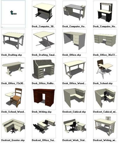 ●Sketchup Desk 3D models