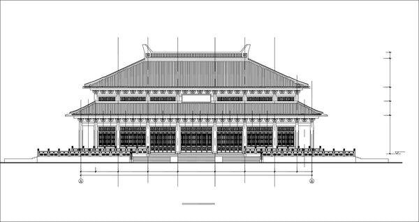 Chinese Architecture Cad Drawings Grand Hall Chinese
