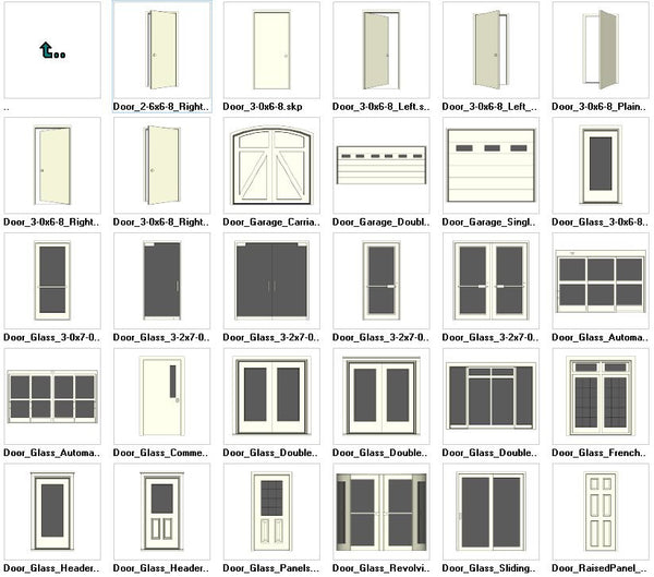 Sketchup Door 3D models download