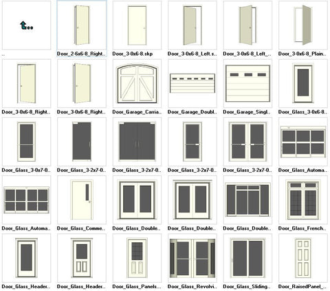 ●Sketchup Door 3D models