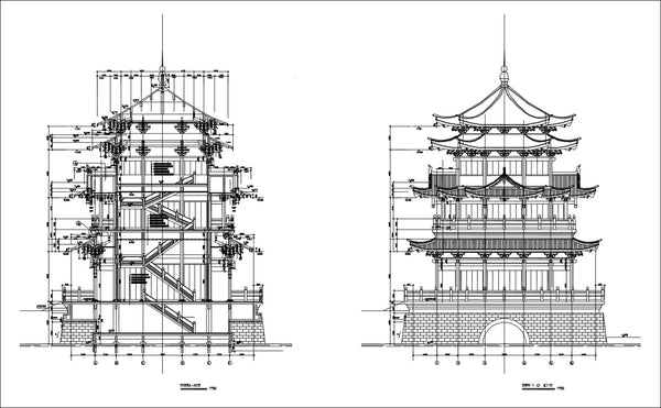 Chinese Architecture CAD Drawings 2